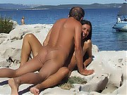 Goodlooking adepts of nudism does it hard on fkk beach