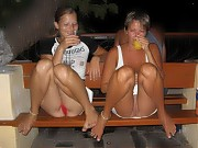 Naturist mature mom with young girls