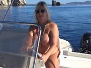 Boat trip completly nude