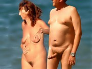 Nude beach - mature and MILF nudist